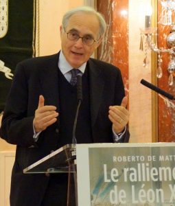 Roberto de Mattei au Salon Hoche à Paris le 30 avril 2016