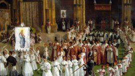 Fête-Dieu à Paris en 1830 – Sortie de procession par Turpin de Crissé